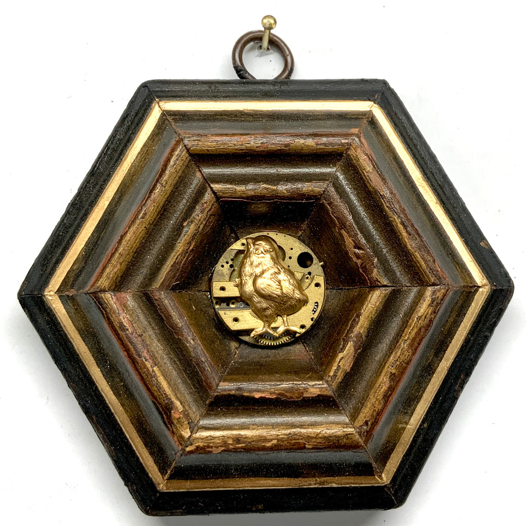 Bourbon Barrel Frame with Fox (3.25