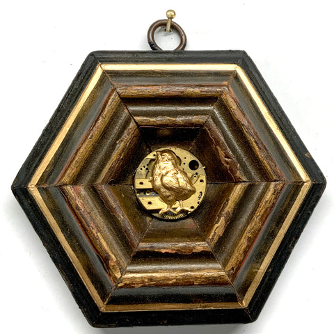 Small Bourbon Barrel Frame with Fox (3-3.5