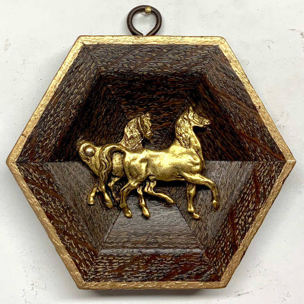 Wooden Frame with Horses (4.5