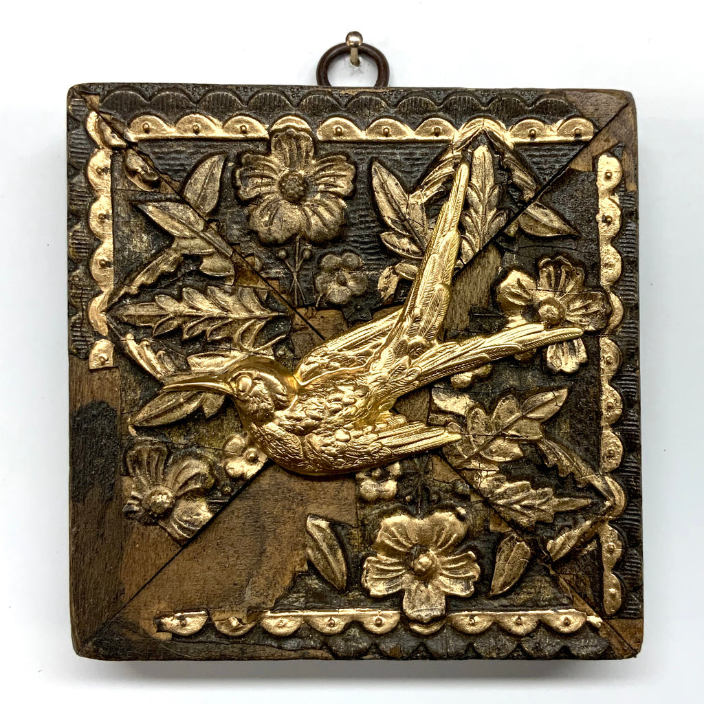 Wooden Frame with Swallow (4.25