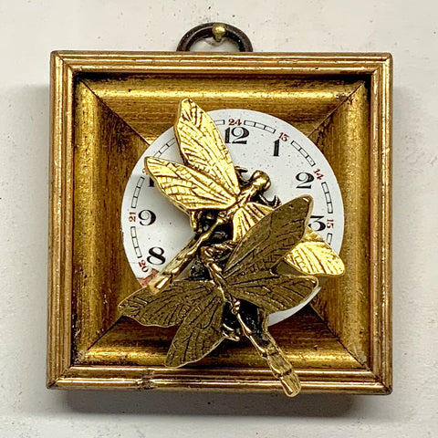 Gilt Frame with Dragonflies on Watch Movement (2.5