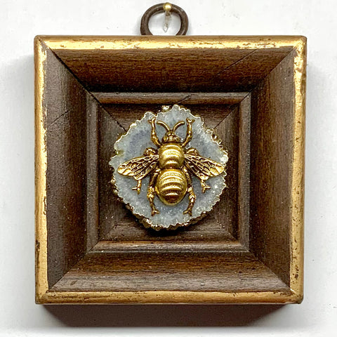 Wooden Frame with Grande Bee on Quartz (3