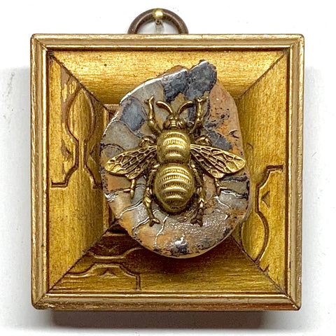 Gilt Frame with Grande Bee on Ammonite (2.25