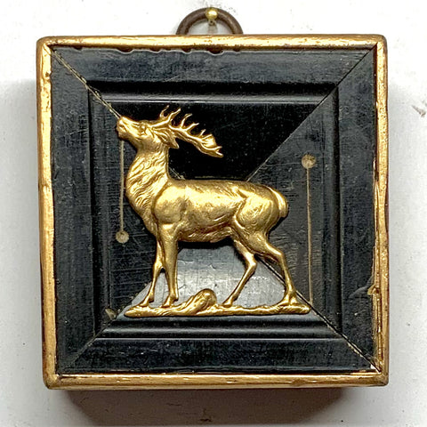 Lacquered Frame with Stag (2.75