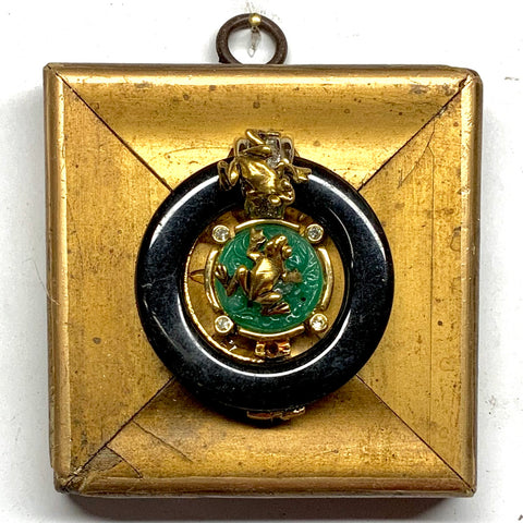 Gilt Frame with Frog on Brooch (3.5