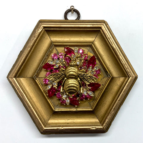 Gilt Frame with Grande Bee on Brooch (4.75