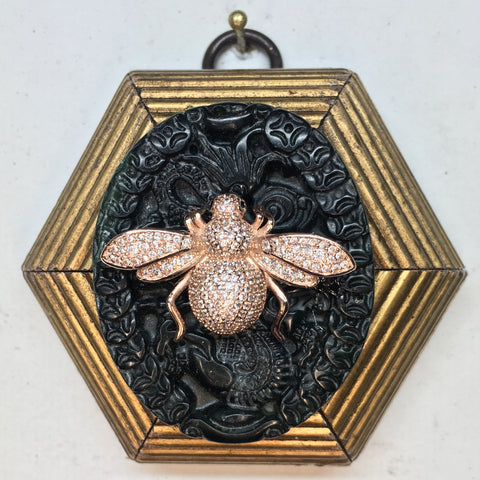 Gilt Frame with Bee on Jade (3