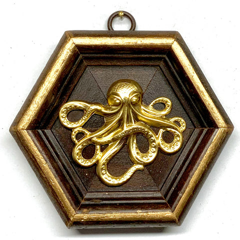 Wooden Frame with Octopus (4.5