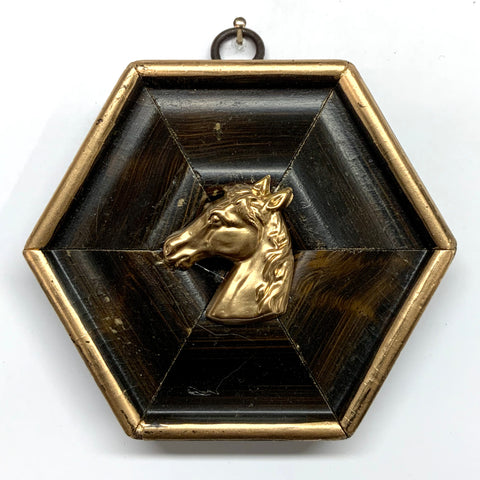 Burled Frame with Horse (4.25