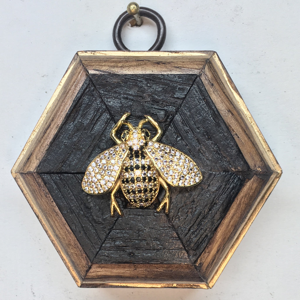Bourbon Barrel Frame with Bee (3.25
