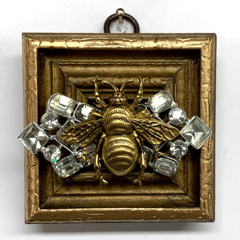 Gilt Frame with Grande Bee on Brooch (2.75