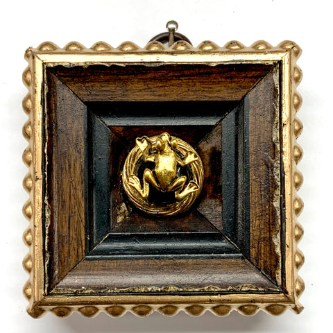 Gilt Frame with Frog on Brooch (2.75