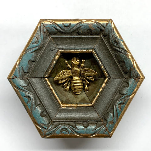 Painted Frame with Napoleonic Bee (2.5