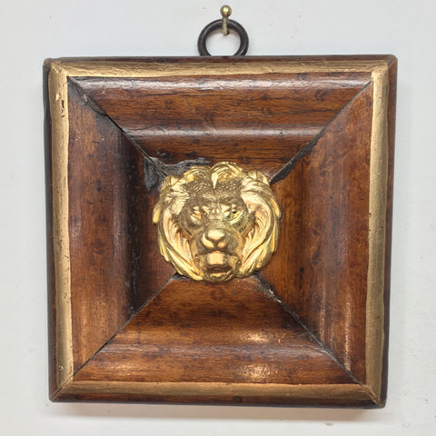 Burled Frame with Lion (3.75