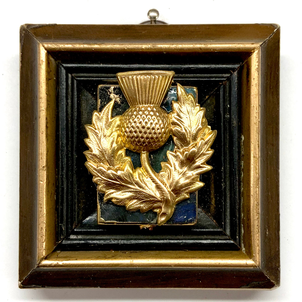 Gilt Frame with Thistle on Stone (3
