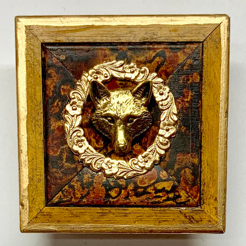 Painted Frame with Fox Head and Wreath (2.5