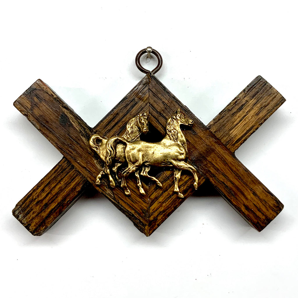 Wooden Frame with Horses (5.5