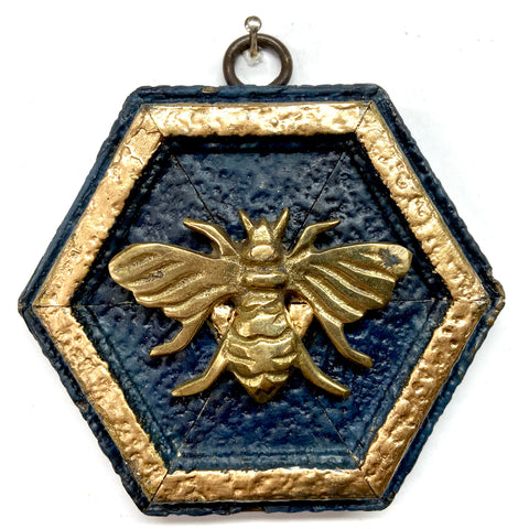 Painted Frame with Bee Brooch (3.75
