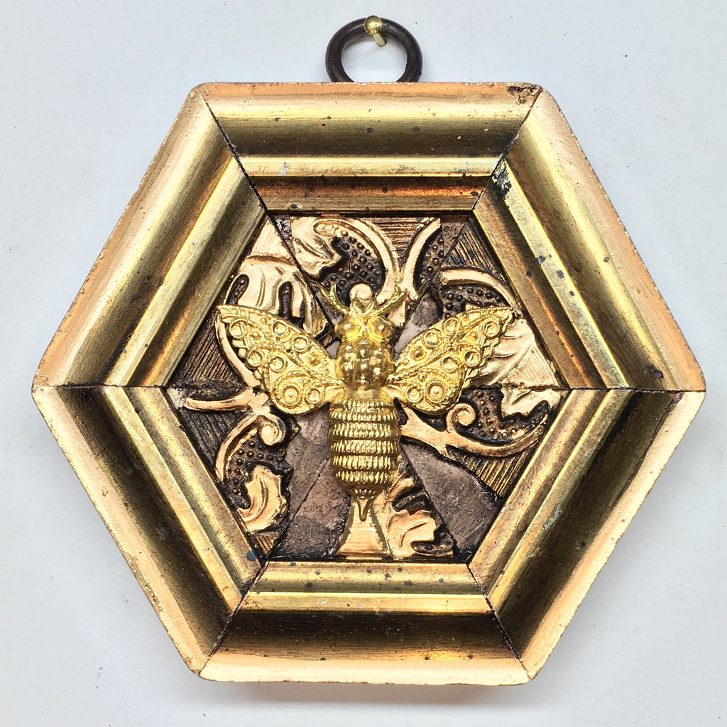 Gilt Frame with Victorian Bee (3.75