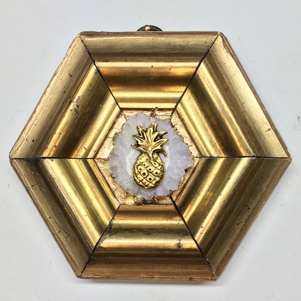Gilt Frame with Pineapple on Quartz (4.5