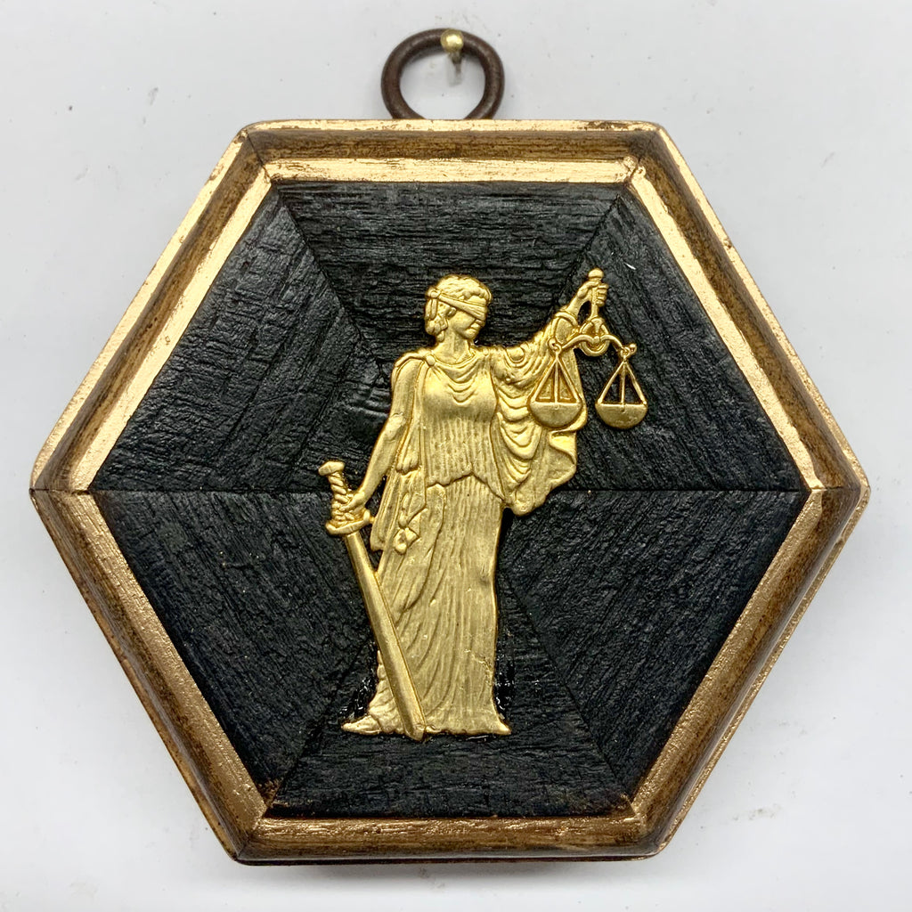 Bourbon Barrel Frame with Lady Justice (3.5