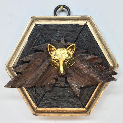 Bourbon Barrel Frame with Fox (3.5