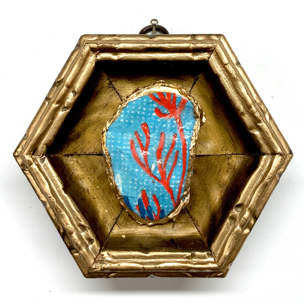 Gilt Frame with Coral Oyster Shell (4.25