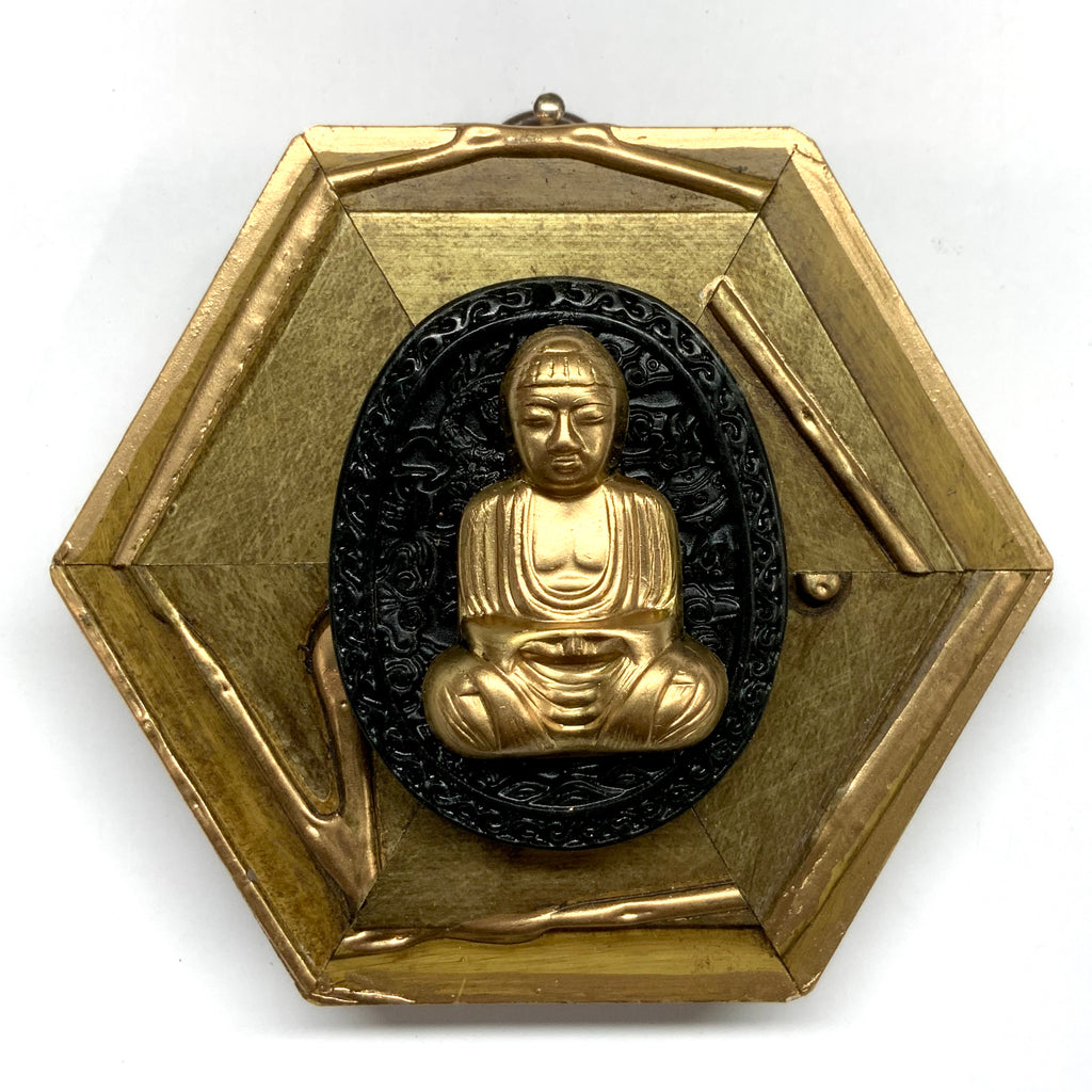 Gilt Frame with Buddha on Jade (4