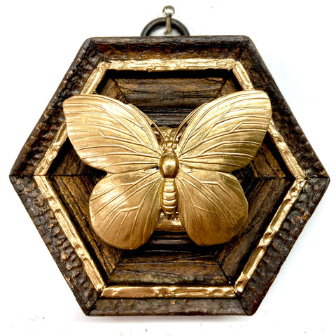 Wooden Frame with Butterfly (3.5