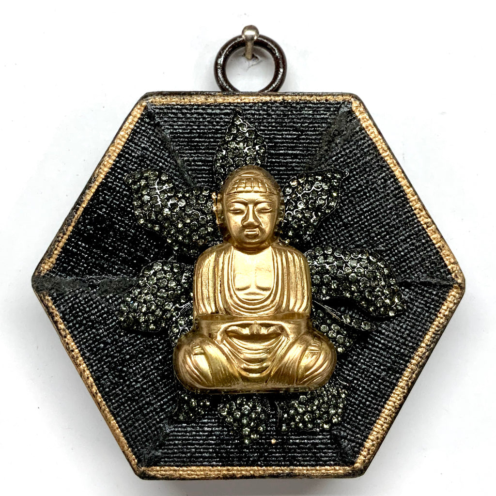 Painted Frame with Buddha on Brooch (3.25