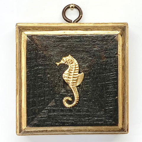 Bourbon Barrel Frame with Seahorse (3