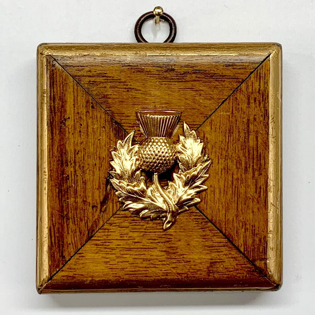Wooden Frame with Thistle (3.25