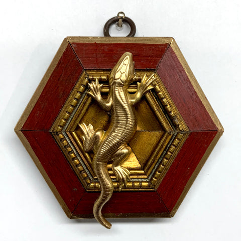 Lacquered Frame with Lizard (3.5