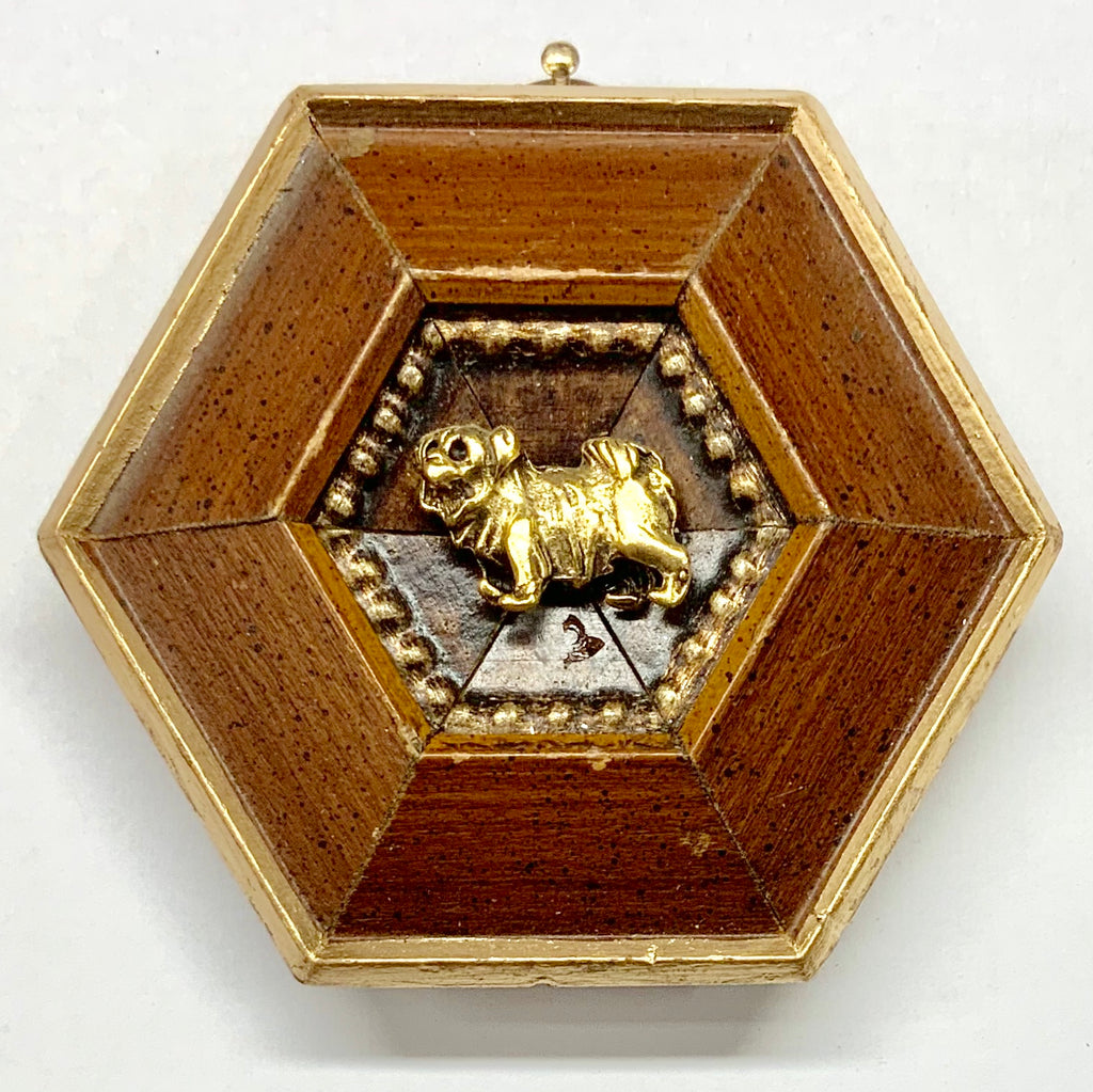 Wooden Frame with Dog (3.5