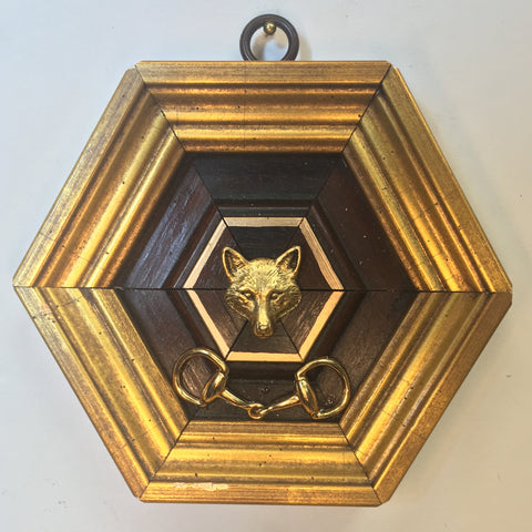 Gilt Wooden Frame with Fox and Snaffle Bit (4.75