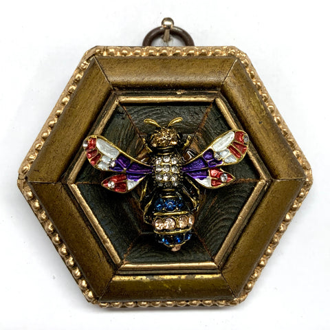 Gilt Frame with Enameled Bee (3