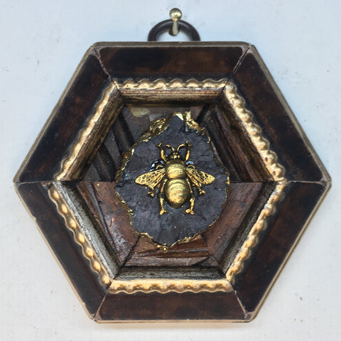 Burled Frame with Grande Bee (3.25 wide)