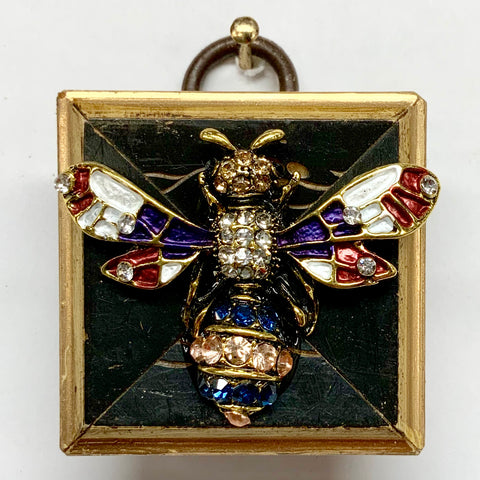 Lacquered Frame with Bee Brooch (1.5