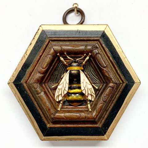 Lacquered Frame with Enamel Bee (3.25