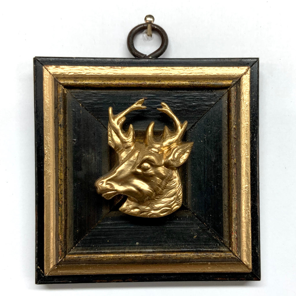 Lacquered Frame with Stag (3