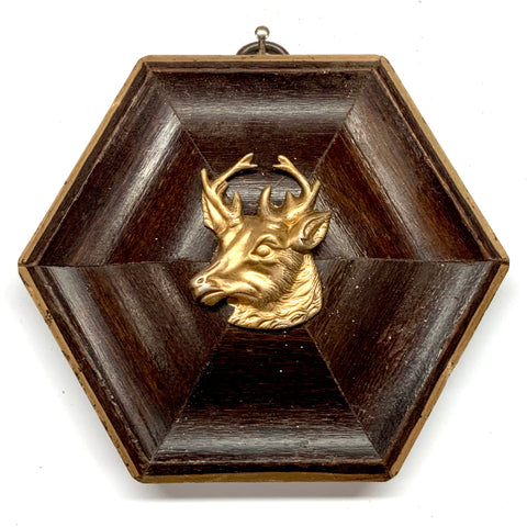 Wooden Frame with Stag (4.25
