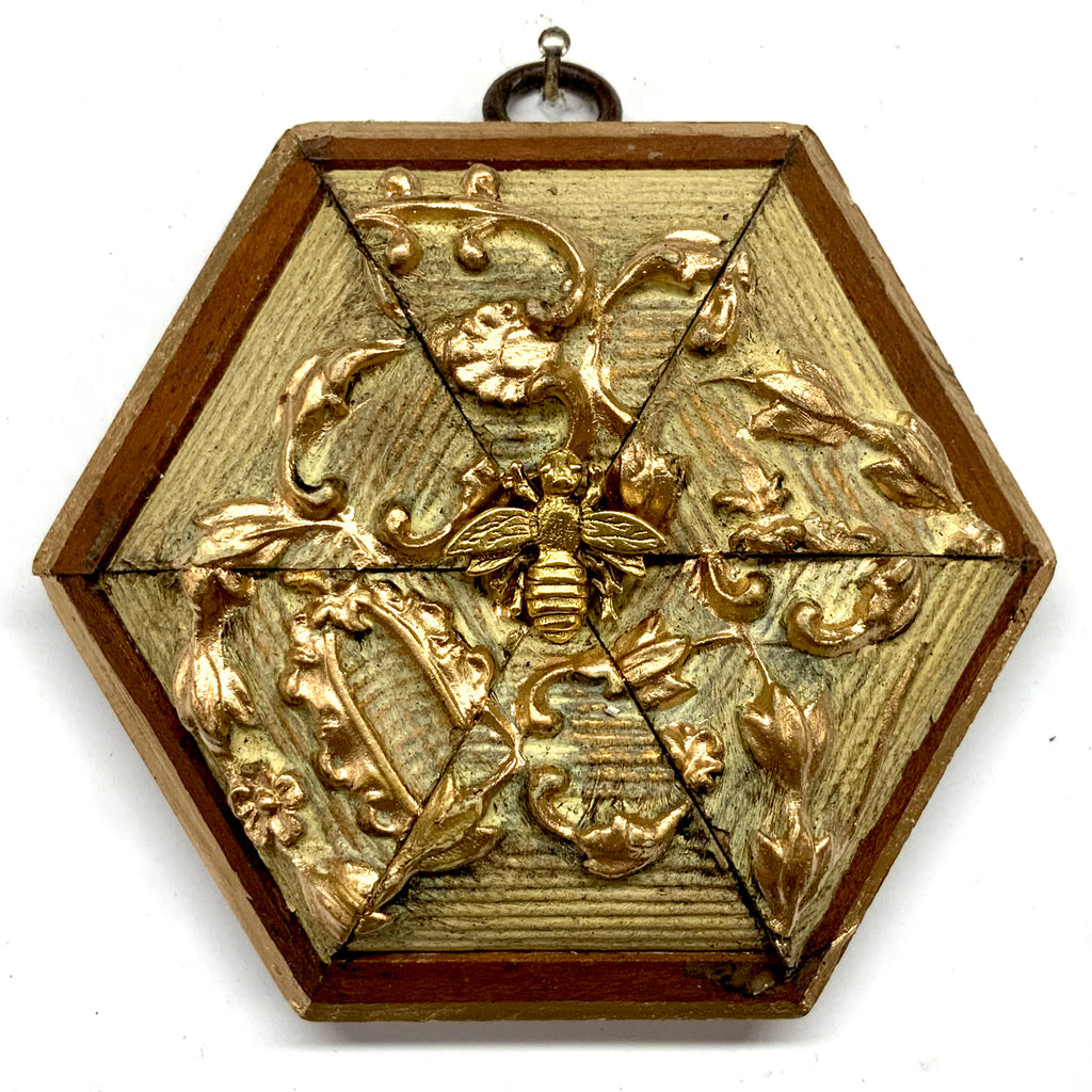 Wooden Frame with Napoleonic Bee (4