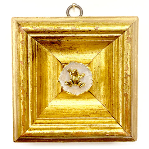 Gilt Frame with Frog on Quartz (4