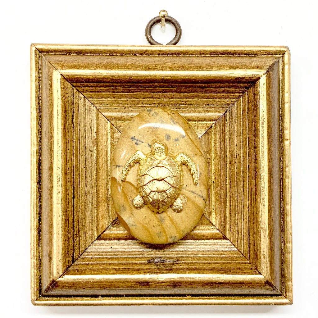 Wooden Frame with Turtle on Stone (4