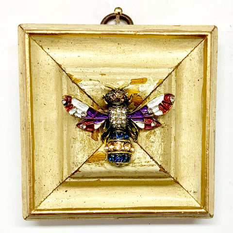 Painted Frame with Enamel Bee (3