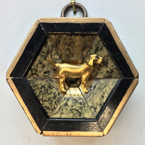 Faux Marble Frame with Golden Retriever (2.5