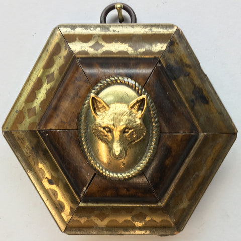 Gilt Wooden Frame with Fox (3.75