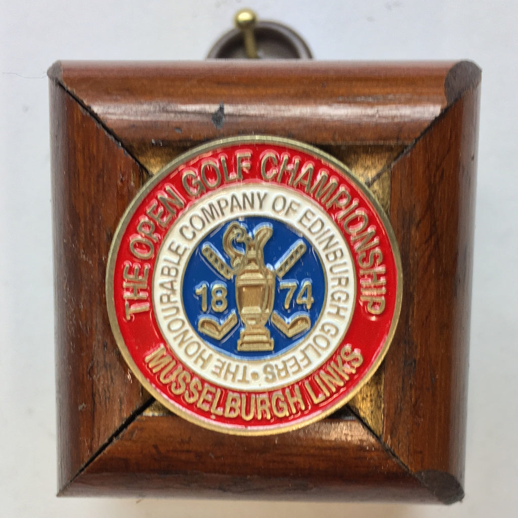 Wooden Frame with 1874 The Open Golf Championship Ball Marker (1.75