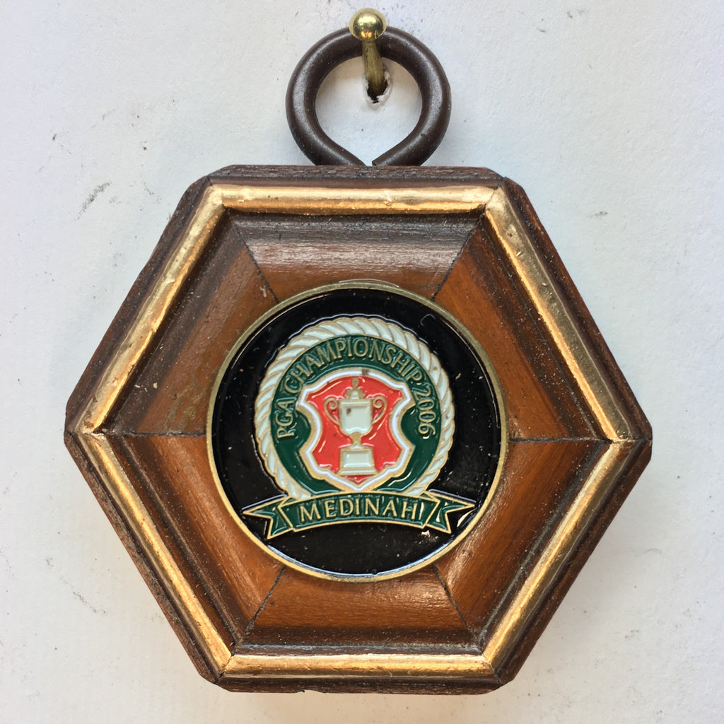 Wooden Frame with Medinah Ball Marker (2