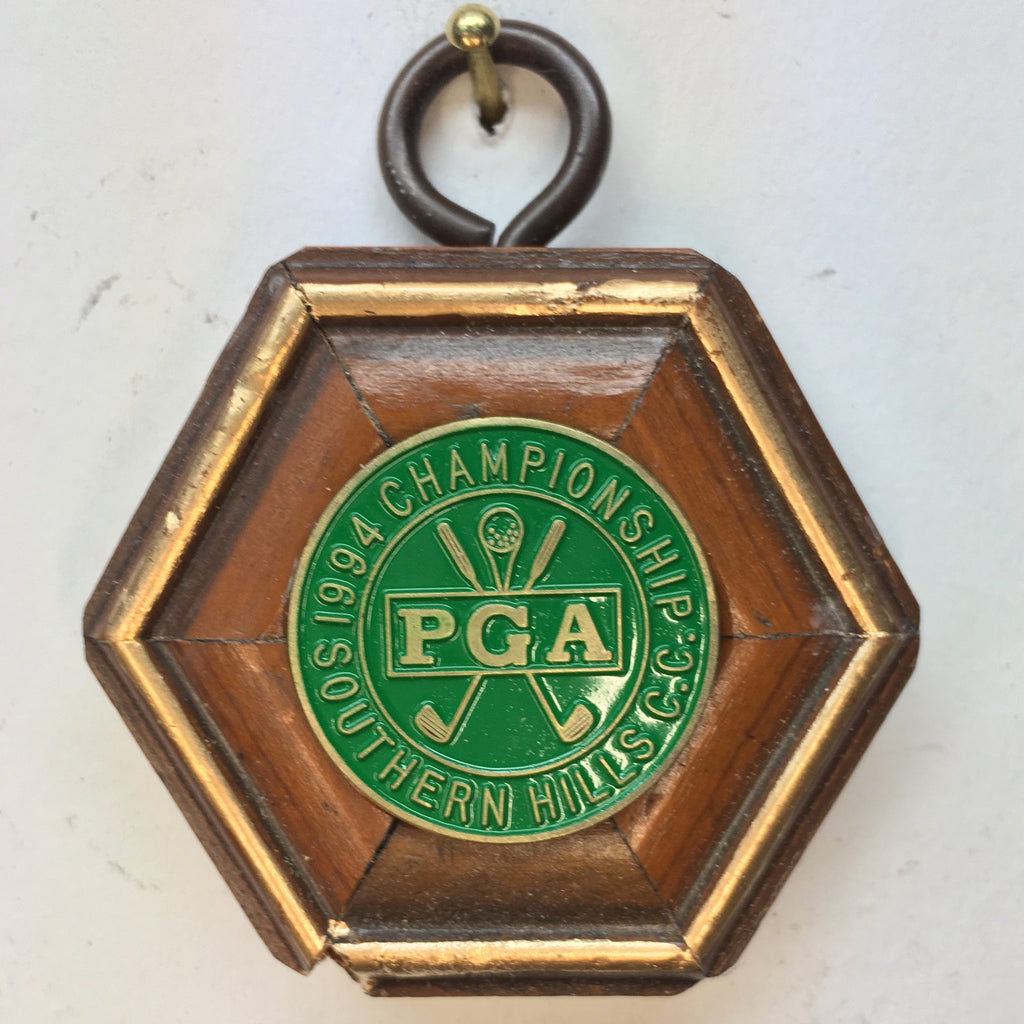 Wooden Frame with 1994 PGA Championship Ball Marker (2
